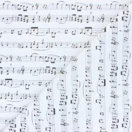 Tissu coton Solfeggio - blanc cassé x 10cm