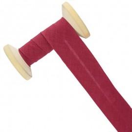 30 mm Poly Cotton Bias Binding Roll - Cardinal Red