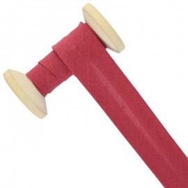 30 mm Poly Cotton Bias Binding Roll - Cherry
