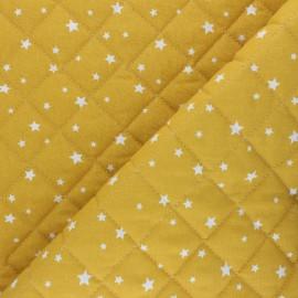 Tissu coton matelassé Scarlet - jaune moutarde  x 10cm