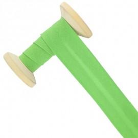 30 mm Poly Cotton Bias Binding Roll - Apple Green