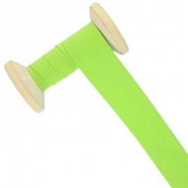 30 mm Poly Cotton Bias Binding Roll - Lime Green