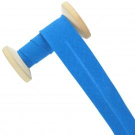 Biais tout textile 30 mm - bleu capri - Bobine de 25 m
