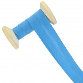 Biais tout textile 30 mm - bleu azur - Bobine de 25 m