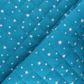 Tissu coton matelassé Scarlet - paon x 10cm