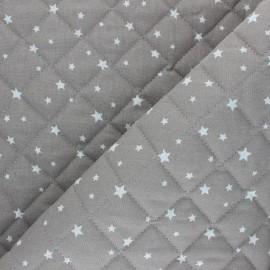 Tissu coton matelassé Scarlet - argile x 10cm