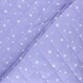 Tissu coton matelassé Scarlet - parme x 10cm