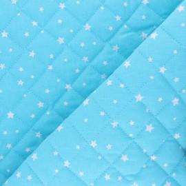 Tissu coton matelassé Scarlet - bleu ciel x 10cm
