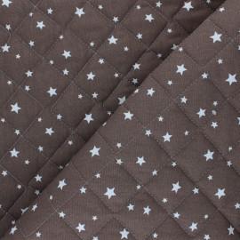 Tissu coton matelassé Scarlet - cacao x 10cm