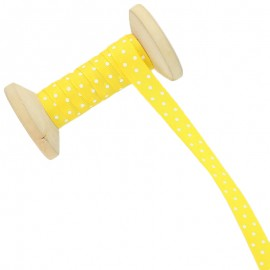 10 mm Polka Dot Ribbon Roll - Yellow