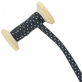 10 mm Polka Dot Ribbon Roll - Black