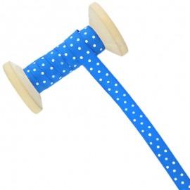 Ruban À Pois 10 mm - bleu - Bobine de 25 m