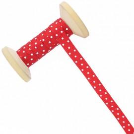 10 mm Polka Dot Ribbon Roll - Red