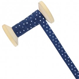 10 mm Polka Dot Ribbon Roll - Navy Blue