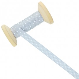 10 mm Polka Dot Ribbon Roll - Grey