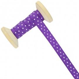 Ruban À Pois 10 mm - violet - Bobine de 25 m