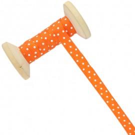Ruban À Pois 10 mm - orange - Bobine de 25 m