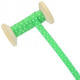 10 mm Polka Dot Ribbon Roll - Green