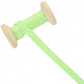 10 mm Polka Dot Ribbon Roll - Anise Green