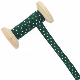 10 mm Polka Dot Ribbon Roll - Pine Green