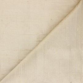 Tissu soie sauvage - doré x 10cm
