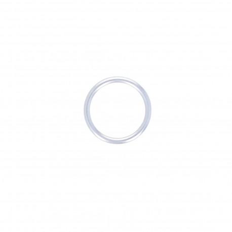 Anneau métal Crisco 26 mm - argent (lot de 4)