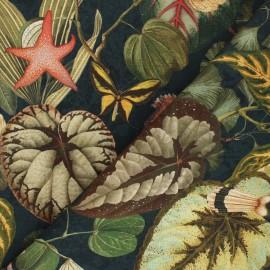 Tissu toile de coton Jardin extraordinaire - vert foncé x 35cm