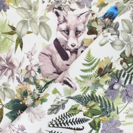 Tissu toile de coton Foxy - ivoire x 42cm