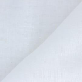 ♥ Coupon 300 cm X 290 cm ♥ Tissu étamine coton lin grande largeur  - blanc