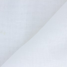 Tissu étamine coton lin grande largeur (290 cm) - blanc x 10cm