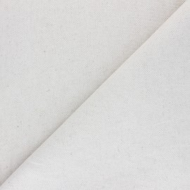 Plain cotton linen canvas fabric - natural Neutre x 10cm