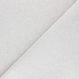Tissu toile de coton lin uni Neutre - naturel x 10 cm