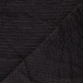 Thick ribbed velvet jersey fabric - brown x 10cm