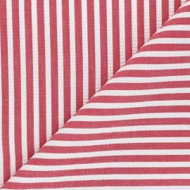 Tissu seersucker rayé Augustin - rouge x 10cm