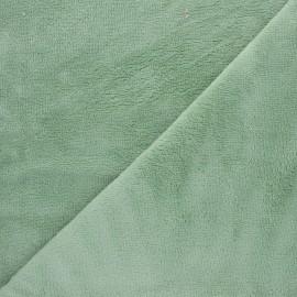 Micro bamboo towel fabric - almond green x 10cm