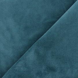 Micro bamboo towel fabric - petrol blue x 10cm