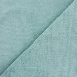 Tissu micro-éponge bambou - céladon x 10cm