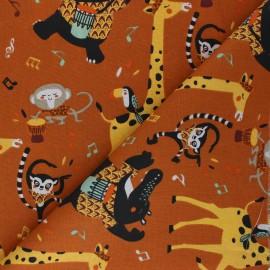 Tissu coton cretonne Jazzy - roux x 10cm