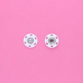 Bouton pression à coudre Crafty 21,5 mm - blanc (lot de 4)