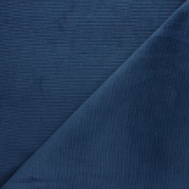 Milleraies velvet jersey fabric - swell  blue x 10cm