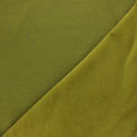 Plain sweatshirt with minkee fabric - moss green x 10cm