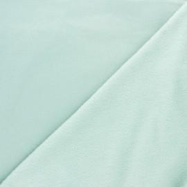 Tissu sweat envers minkee uni - céladon x 10cm