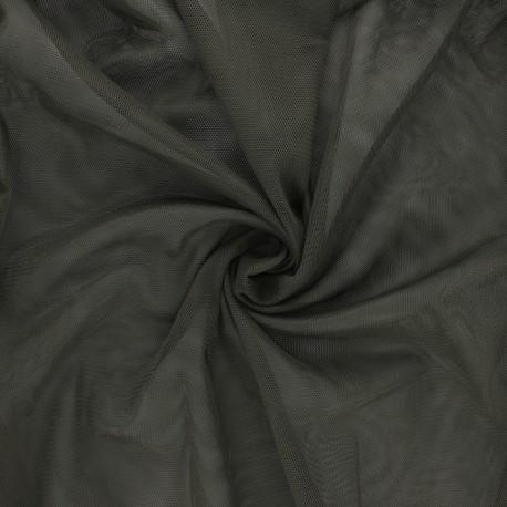 Soft tulle fabric - military green Maglia x 10cm
