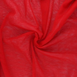 Soft tulle fabric - red Maglia x 10cm