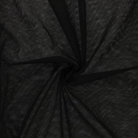 Soft tulle fabric - black Maglia x 10cm