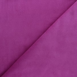 Tissu velours jersey milleraies  - violine x 10cm