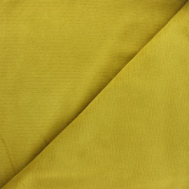 Tissu velours jersey milleraies  - jaune curry x 10cm