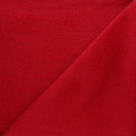 Milleraies velvet jersey fabric - red x 10cm
