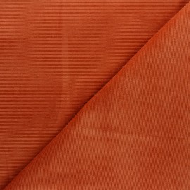 Milleraies velvet jersey fabric - ginger x 10cm