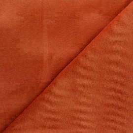 Tissu velours jersey milleraies  - roux x 10cm